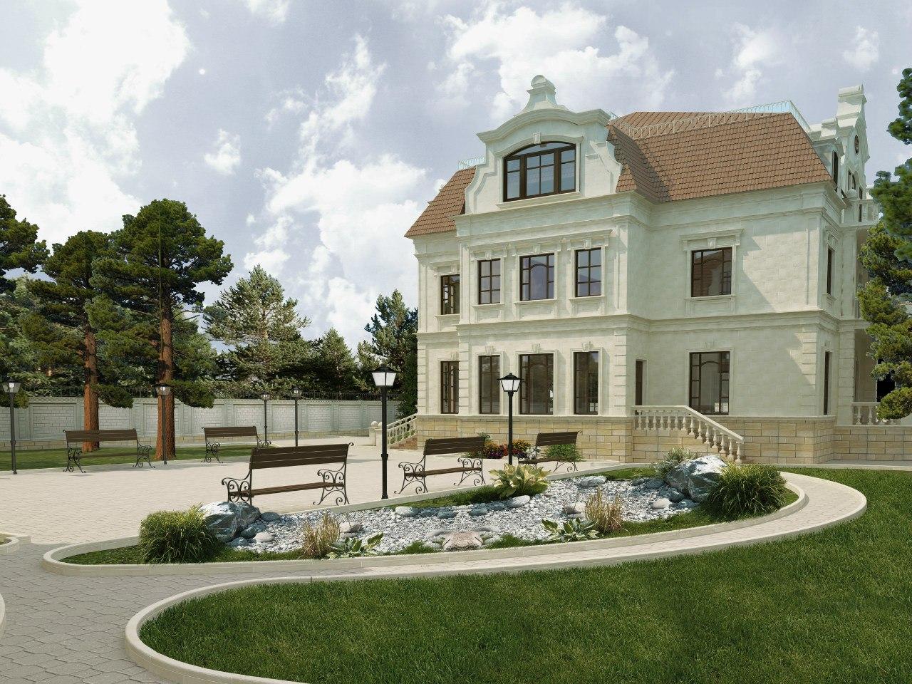 Дизайн экстерьера дома и прилегающей территории