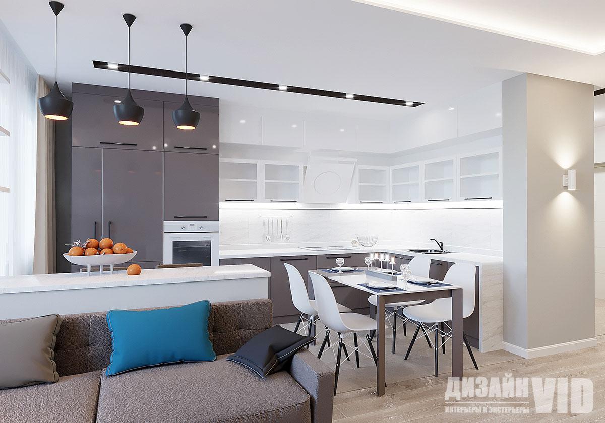 кухня до потолка в квартире