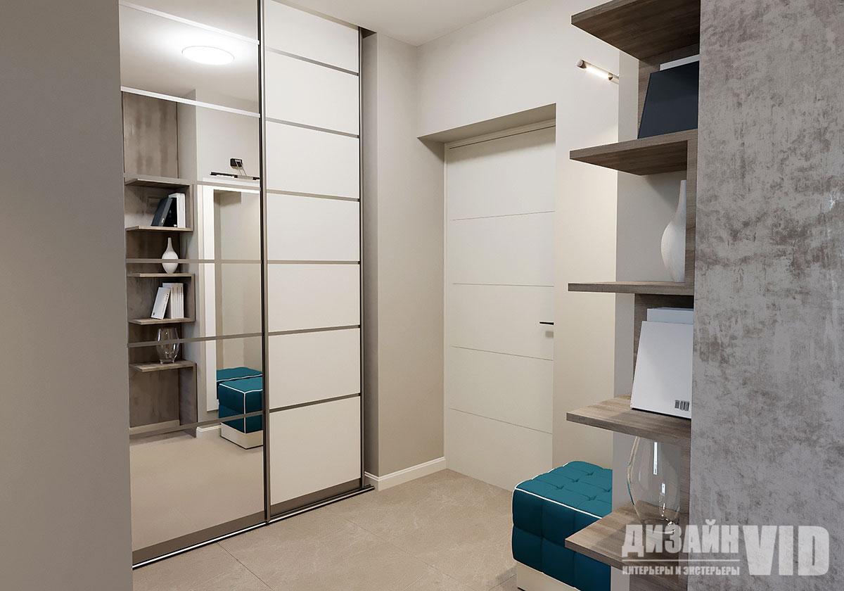 светлый коридор в интерьере квартиры