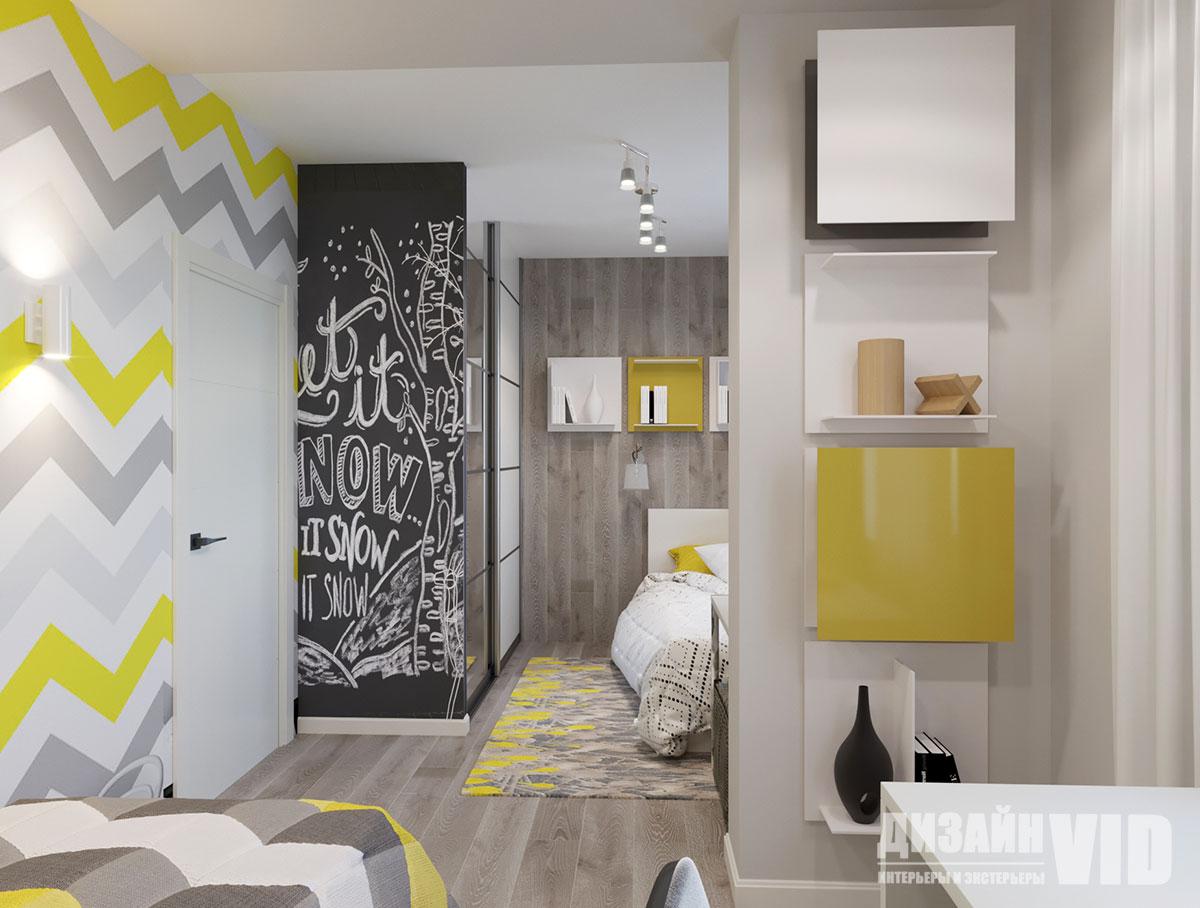современная яркая детская в квартире