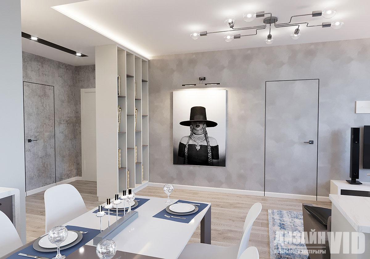 современная гостиная в квартире 80 кв