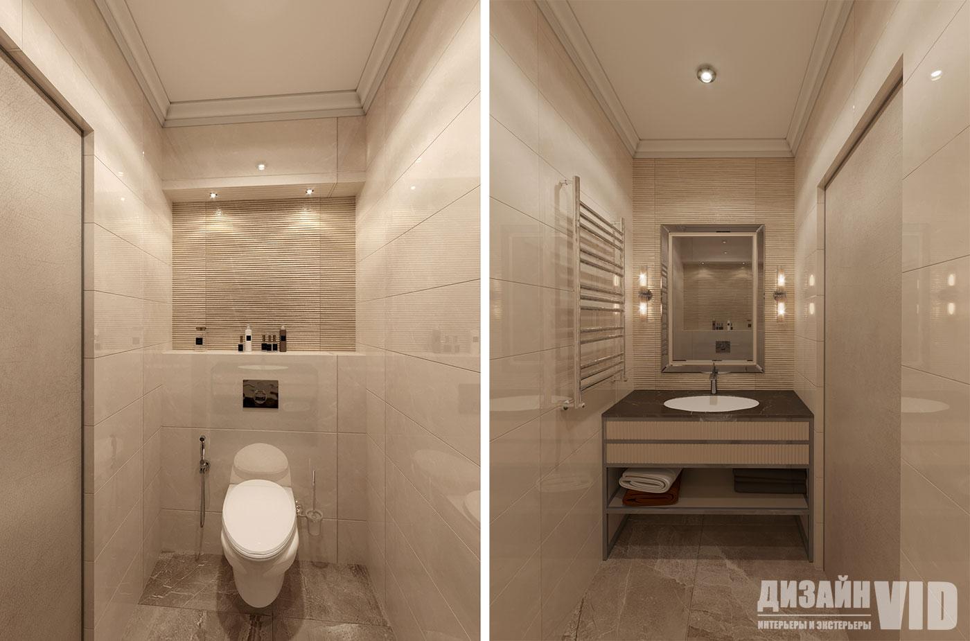 дизайн стильного туалета в квартире