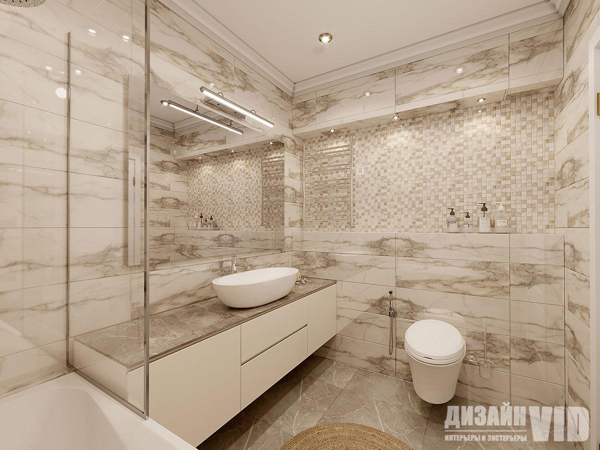 ниша с подсветкой в ванной комнате