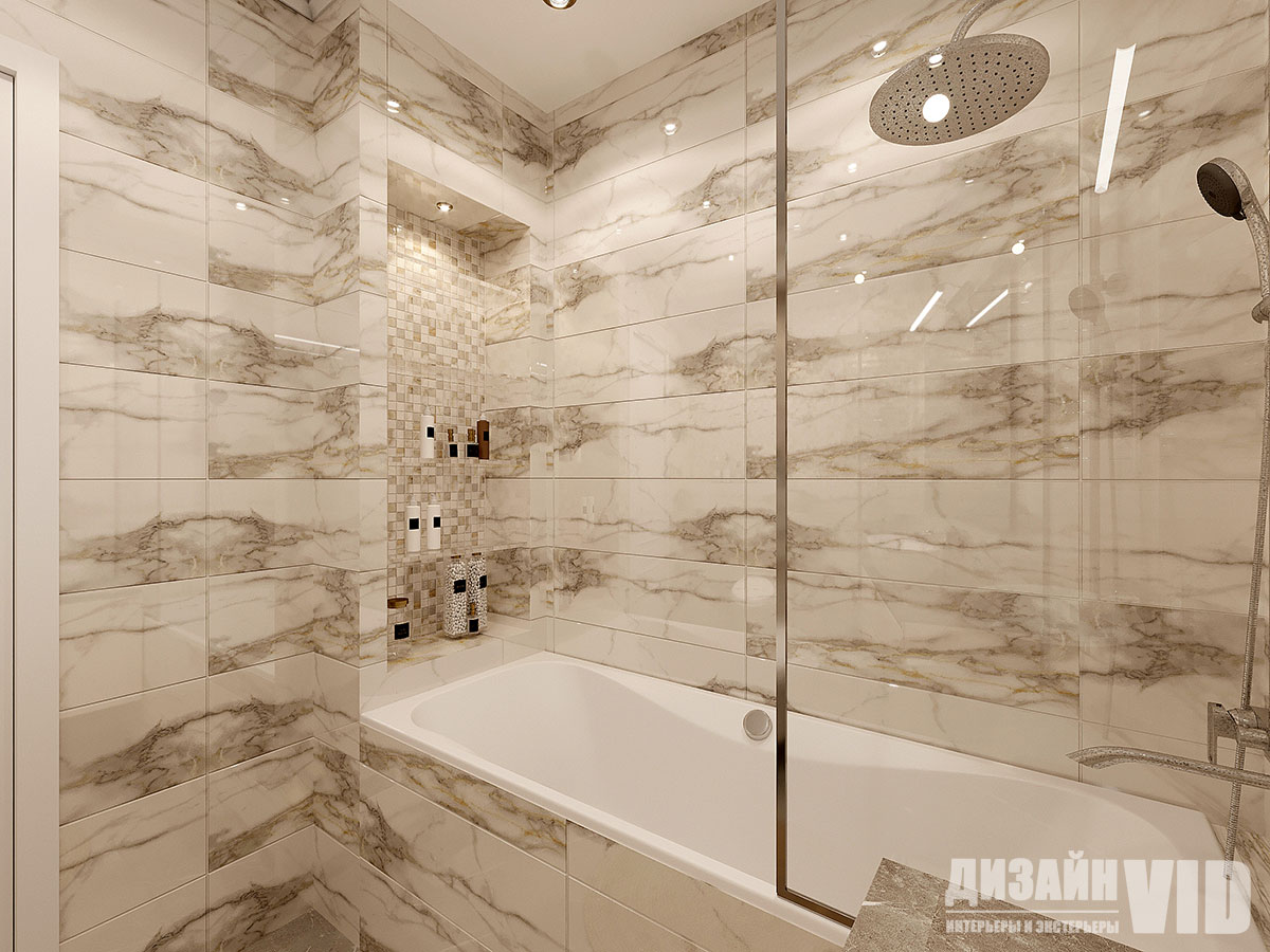 плитка под мрамор в ванной