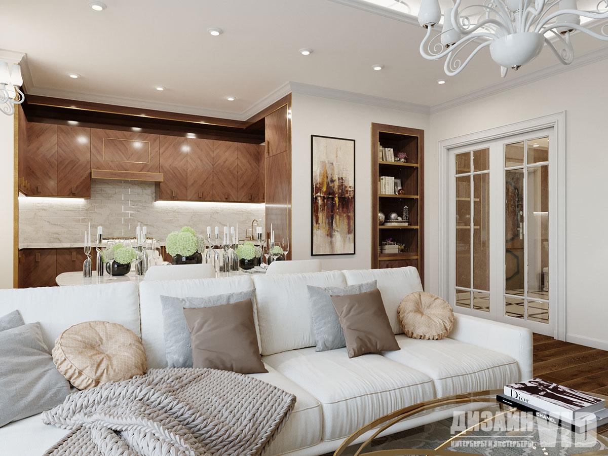 белый диван в классическом интерьере