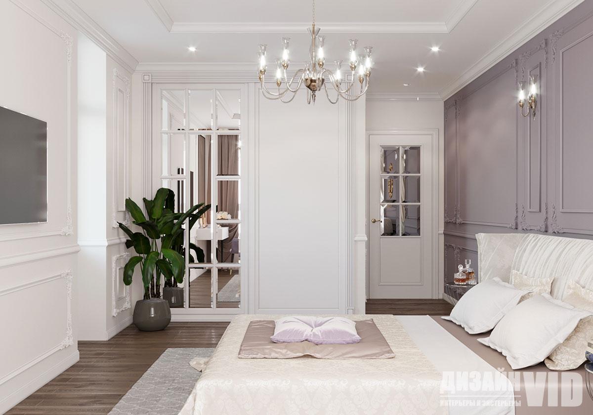 лепной декор в интерьере спальни