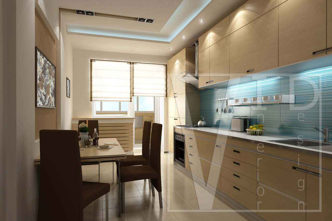 Интерьер двухкомнатной квартиры в Ростове