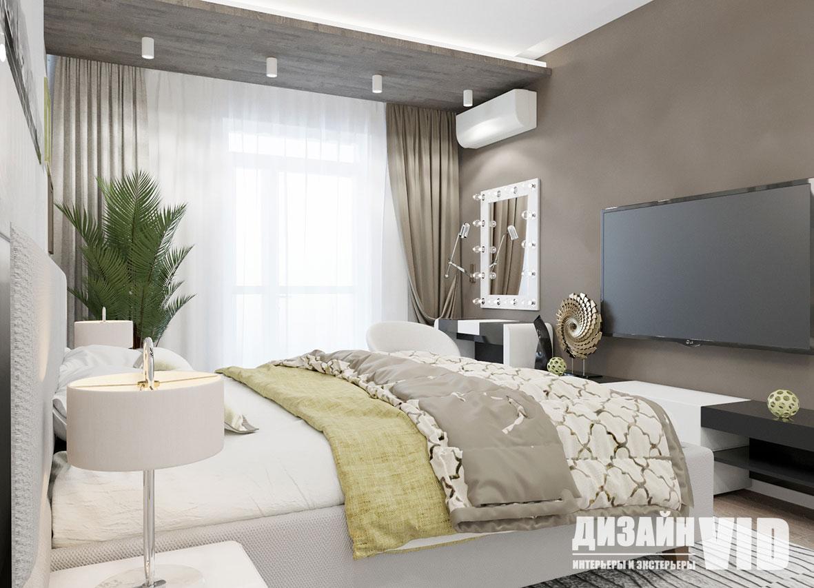 цветовой баланс в интерьере спальни