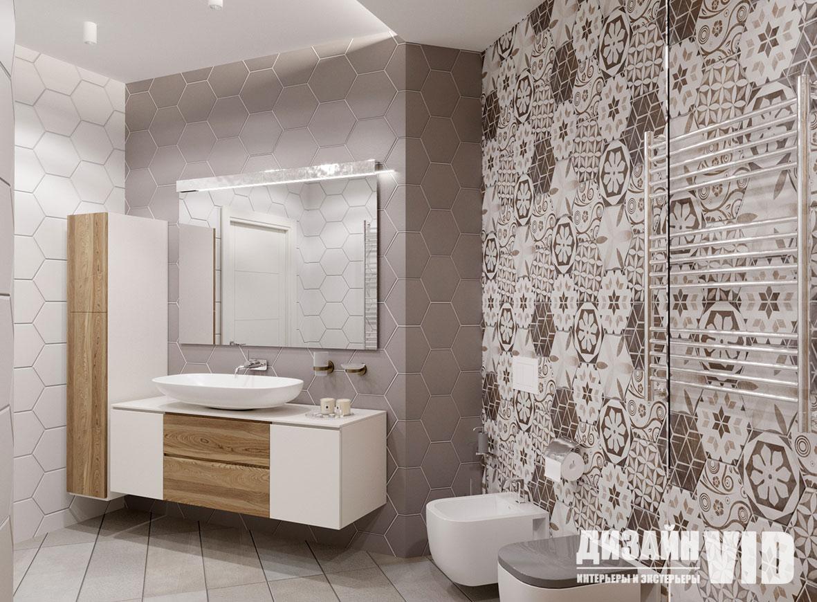 плитка шестигранники в ванной