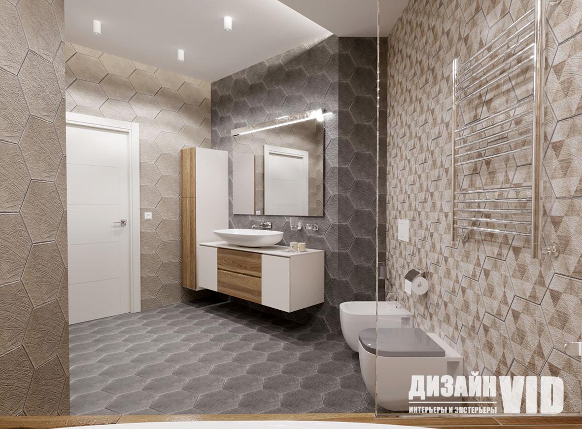 дизайн большой ванны в квартире