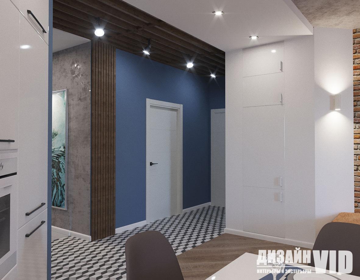 зонирование коридора потолком