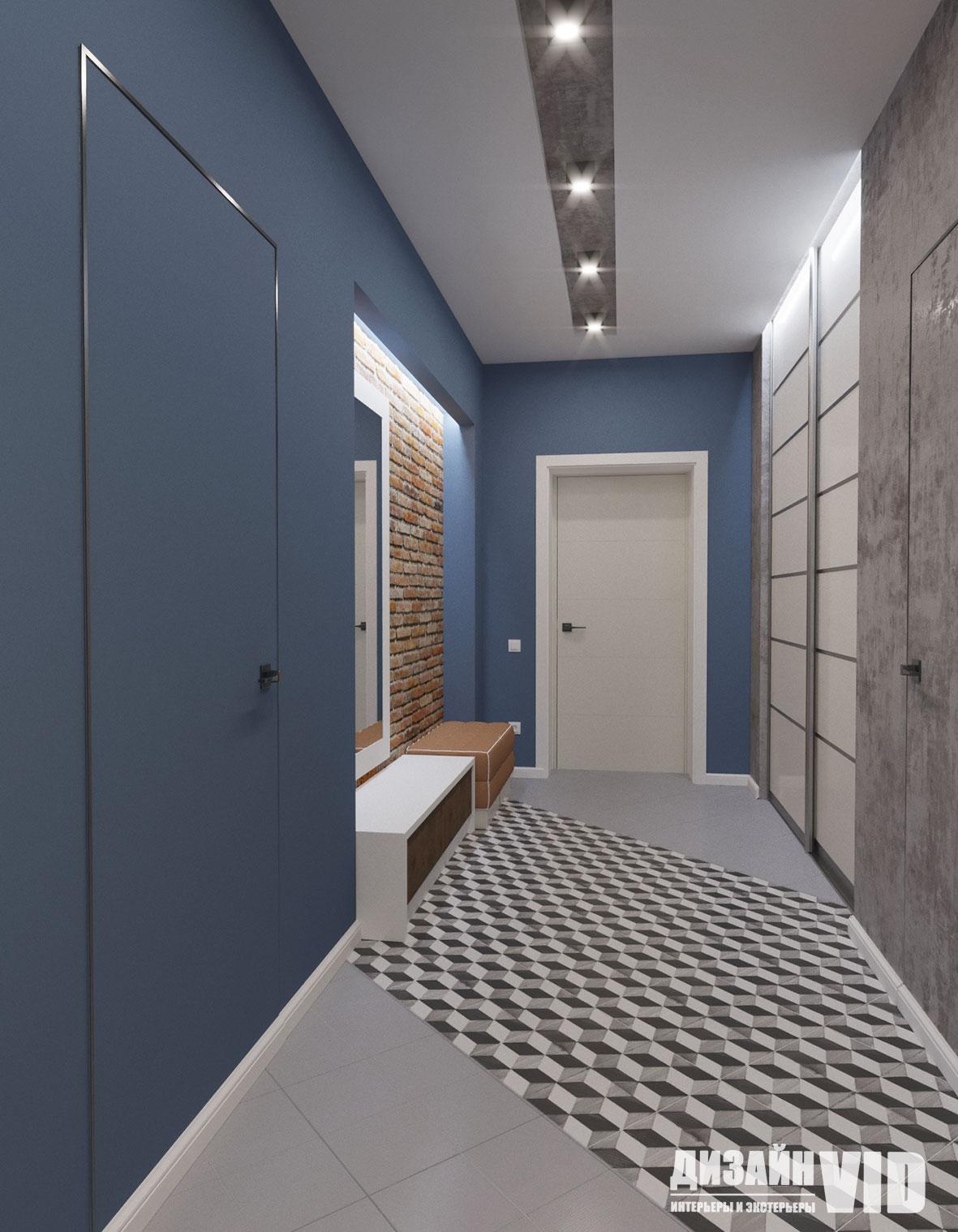 дизайн коридора вид на дверь