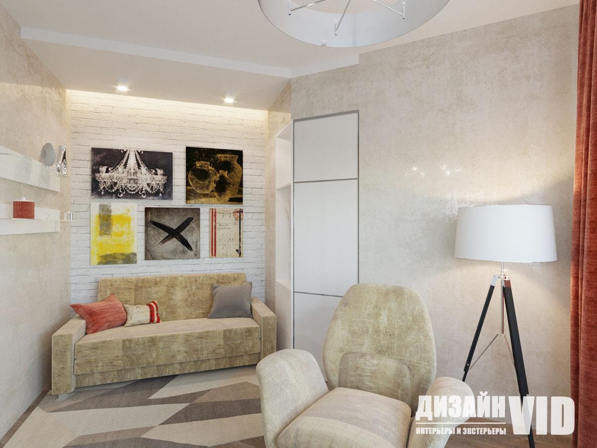 дизайн небольшой гостевой комнаты