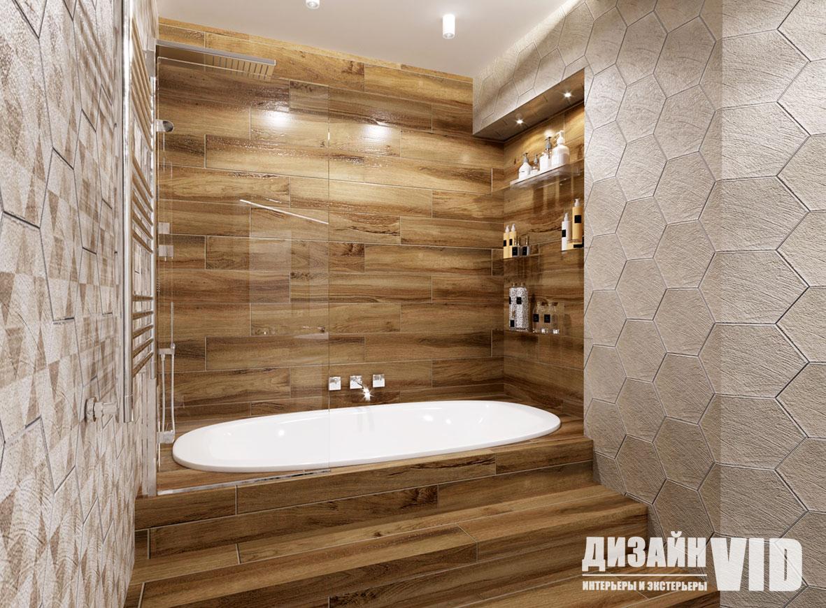 дизайн ванны со ступеньками