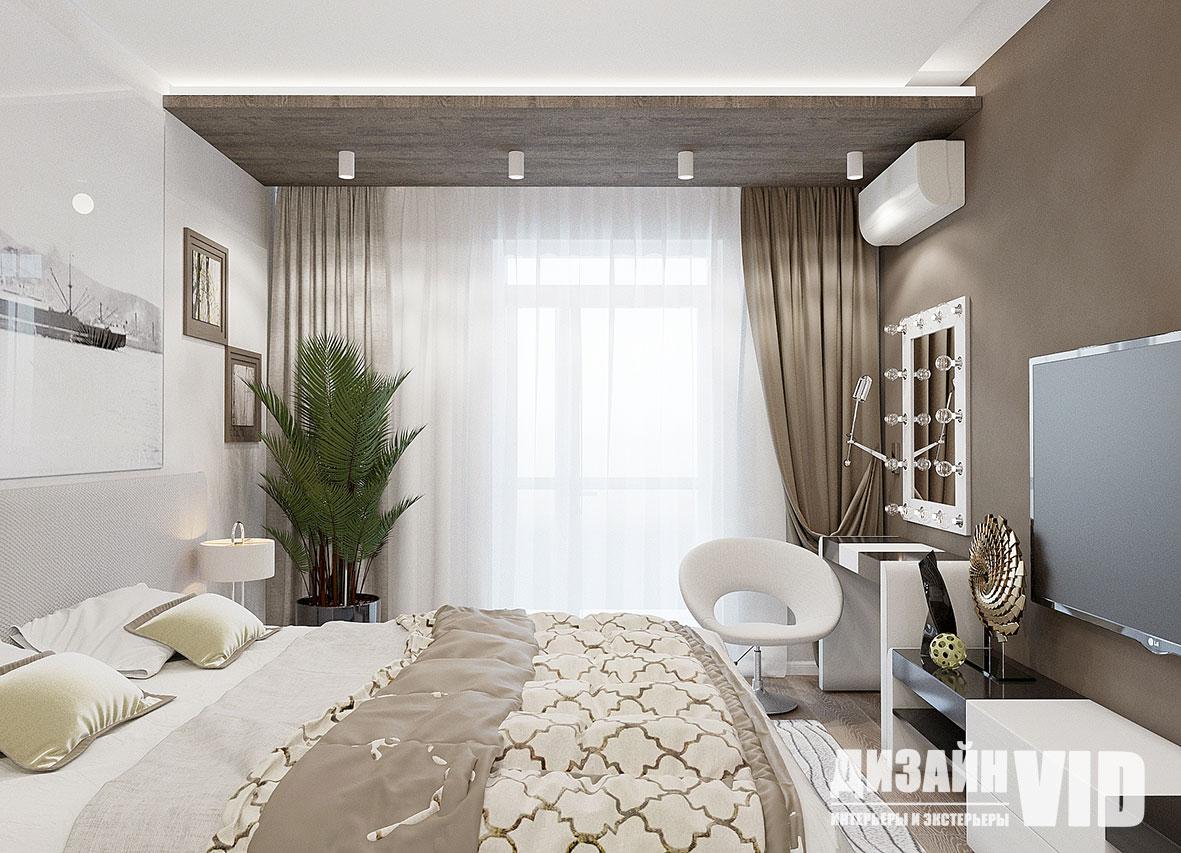 комфортная спальня для молодой пары