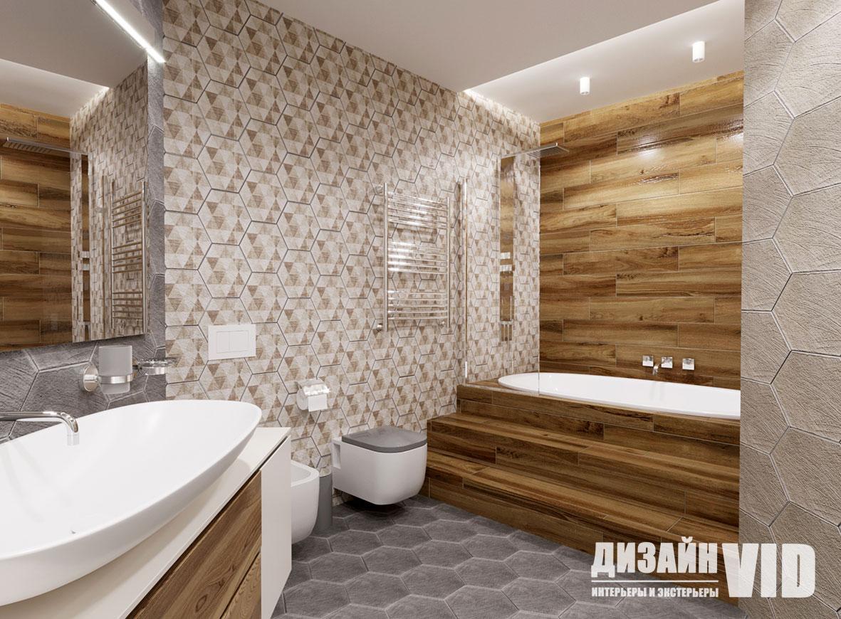дизайн современной большой ванны