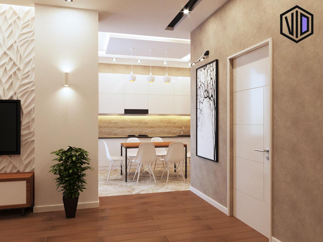 Дизайн квартиры 50 кв. в современном стиле