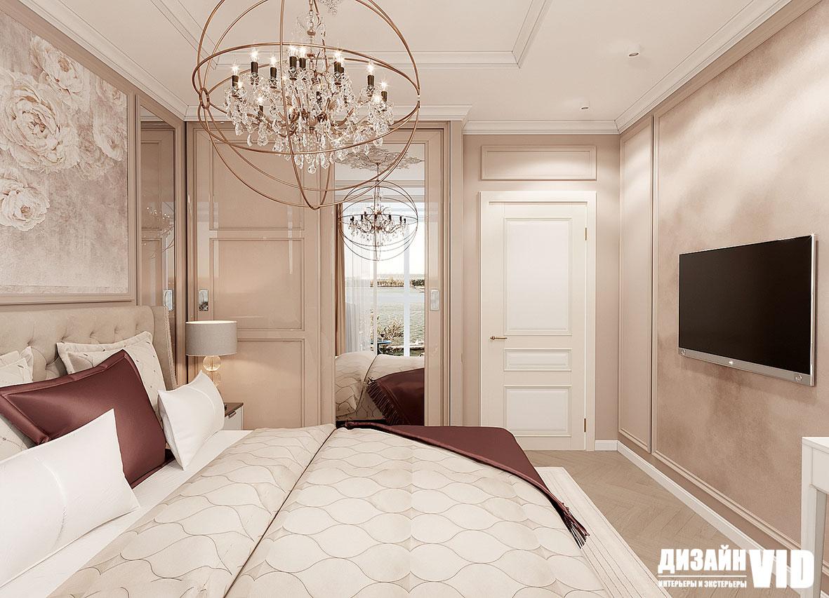 классическое оформление интерьера спальни
