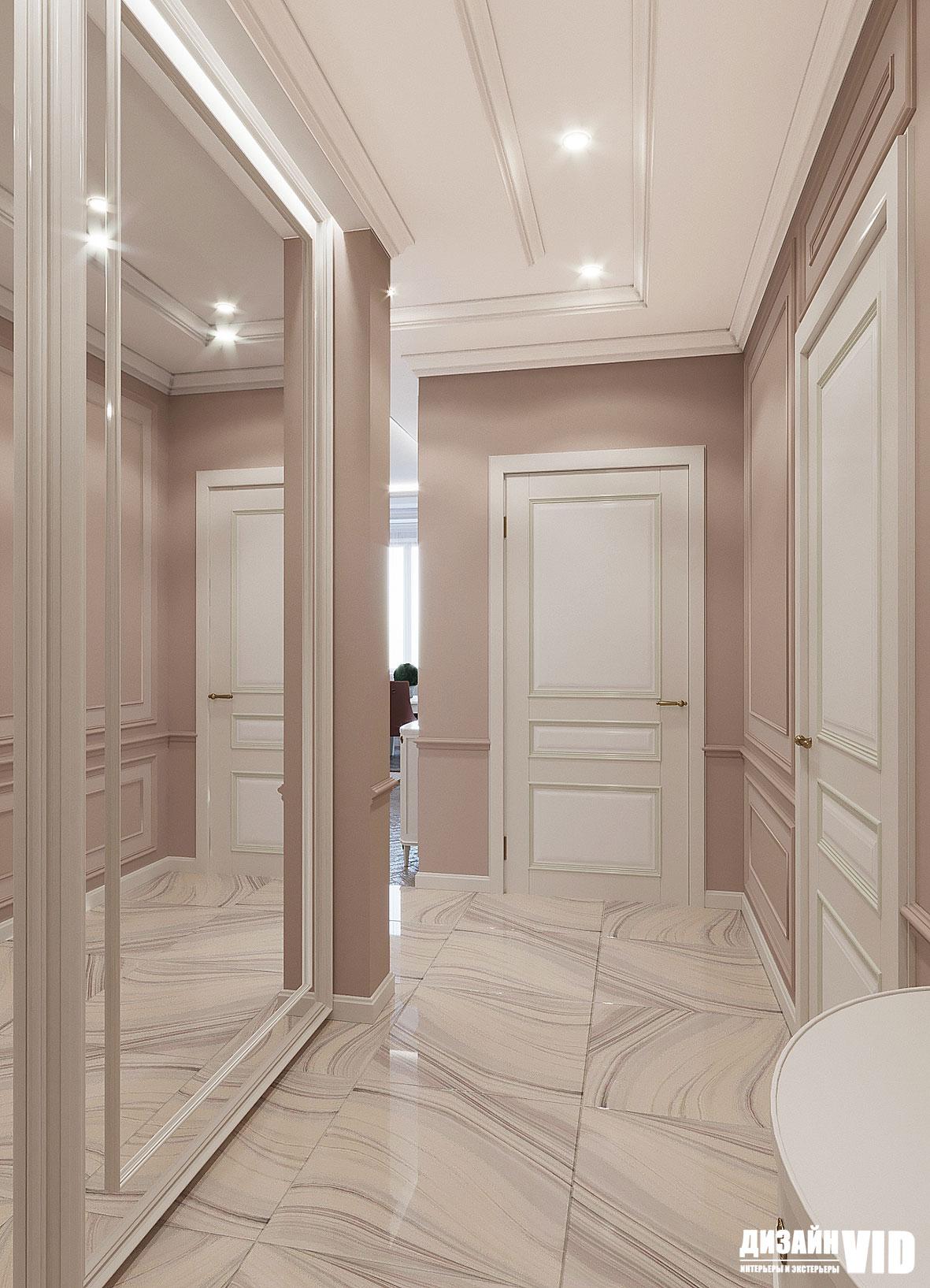 классический интерьер коридора