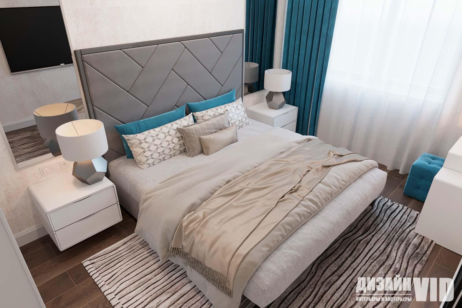 светлая спальня в светлых тонах