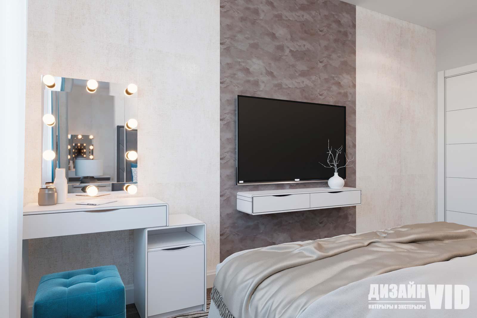 макияжная зона в современной спальне