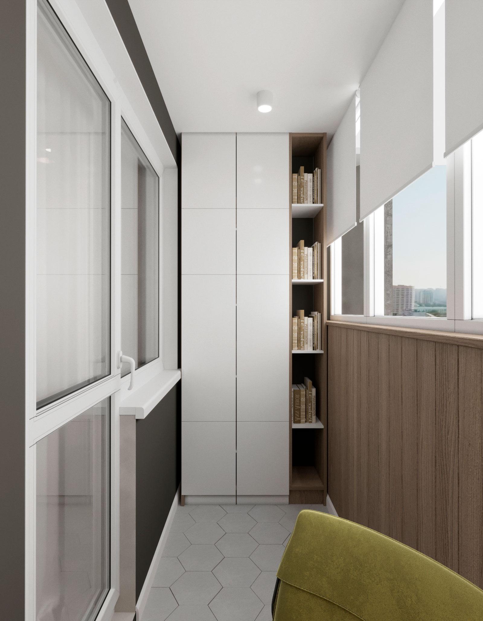 стильный шкаф на балконе