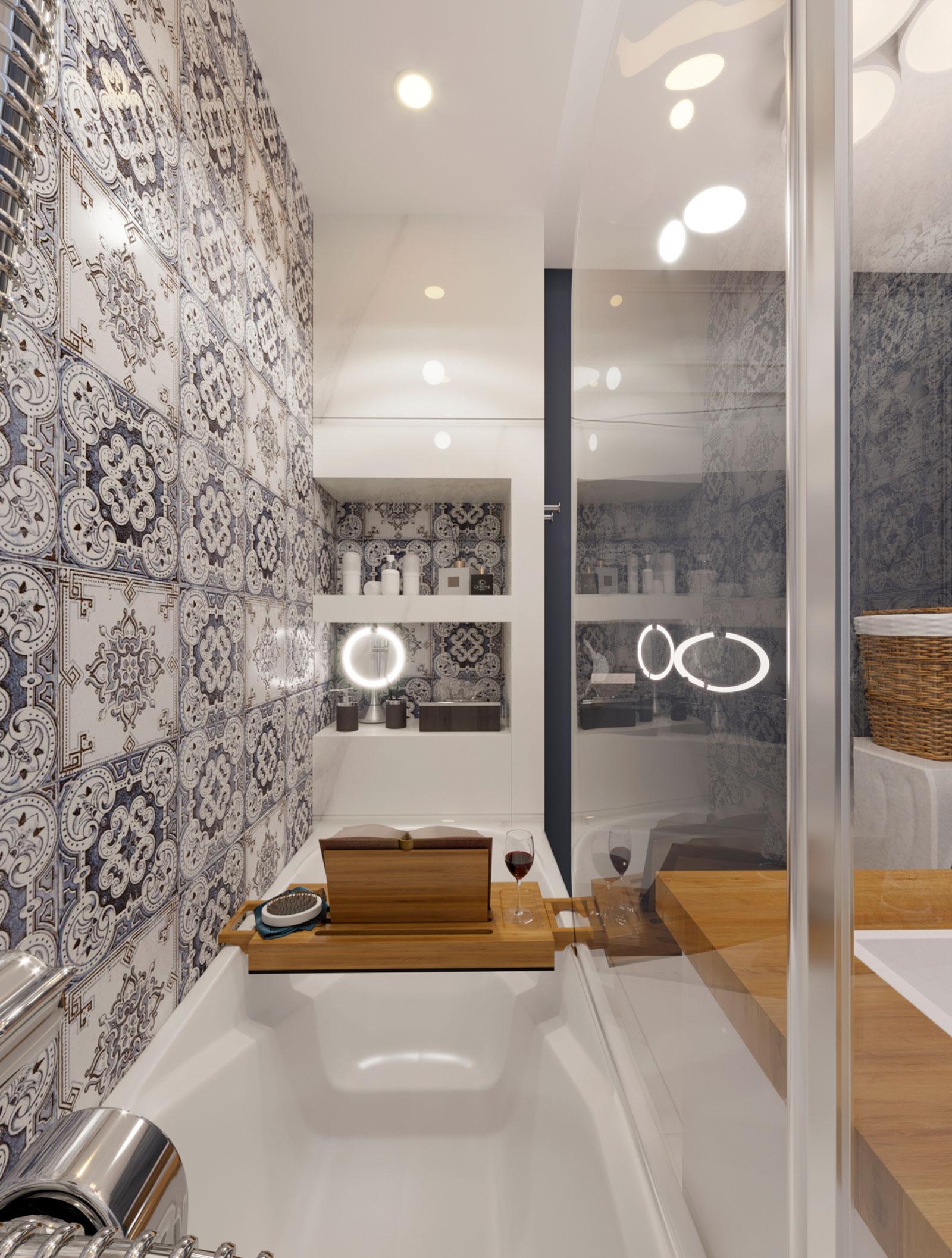 ниша в дизайне ванной