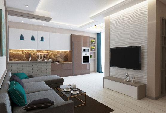 Дизайн двухкомнатной квартиры 85кв м