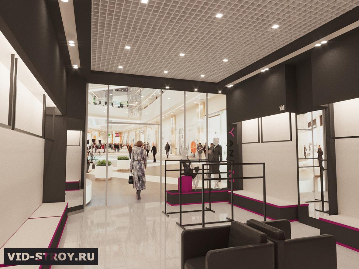 Дизайн магазина современной одежды