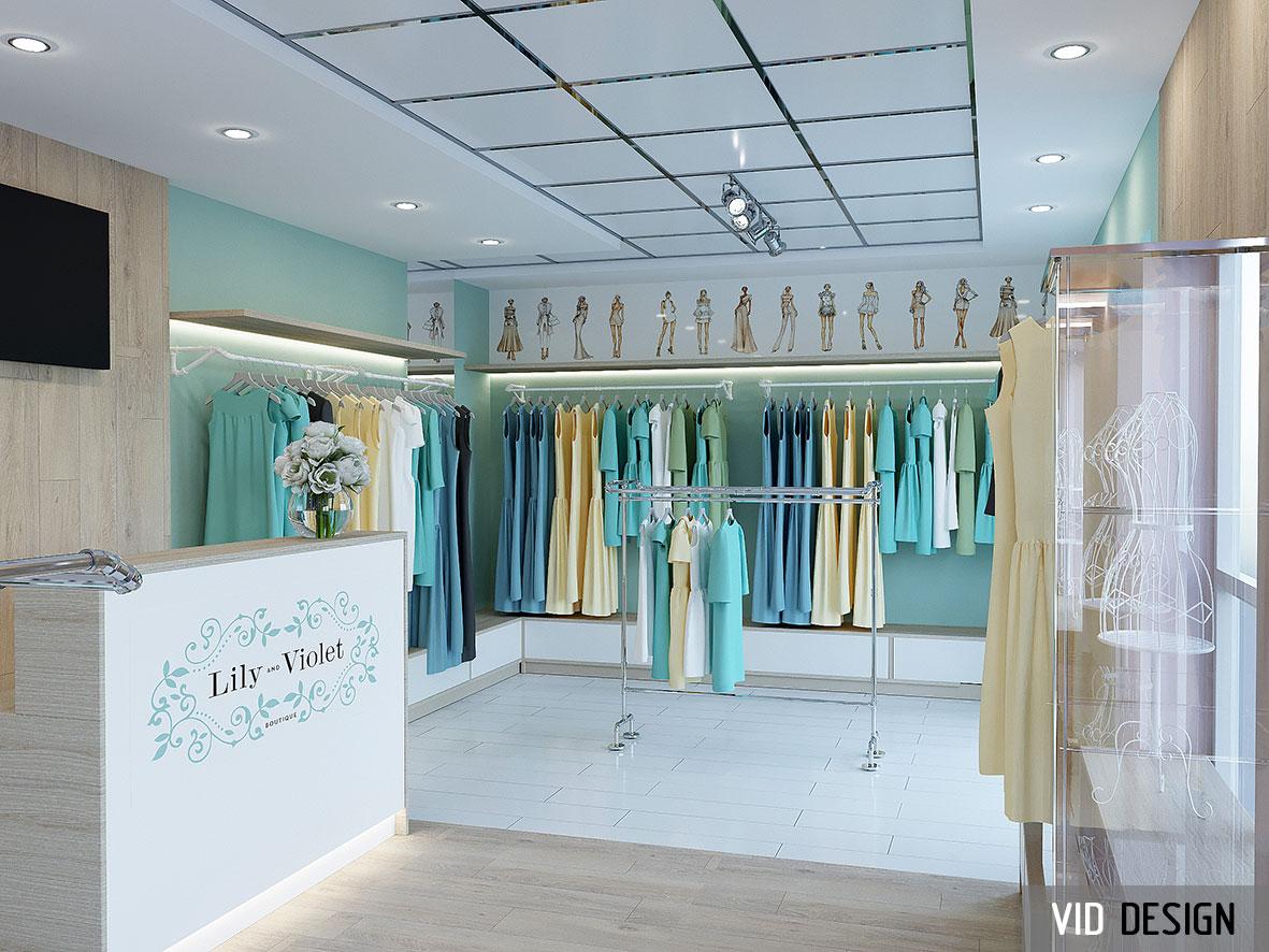 Дизайн магазина женской одежды в Ростове-на-Дону