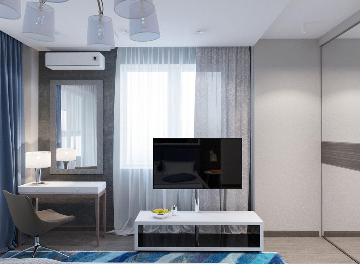 спальня в квартире, стиль минимализм