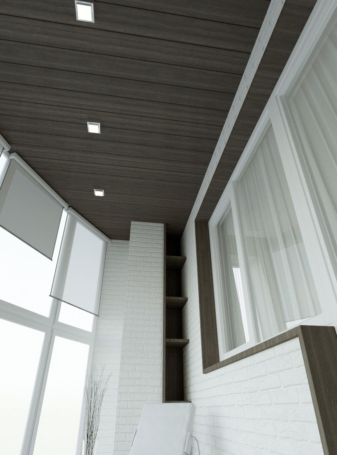 кирпич на балконе