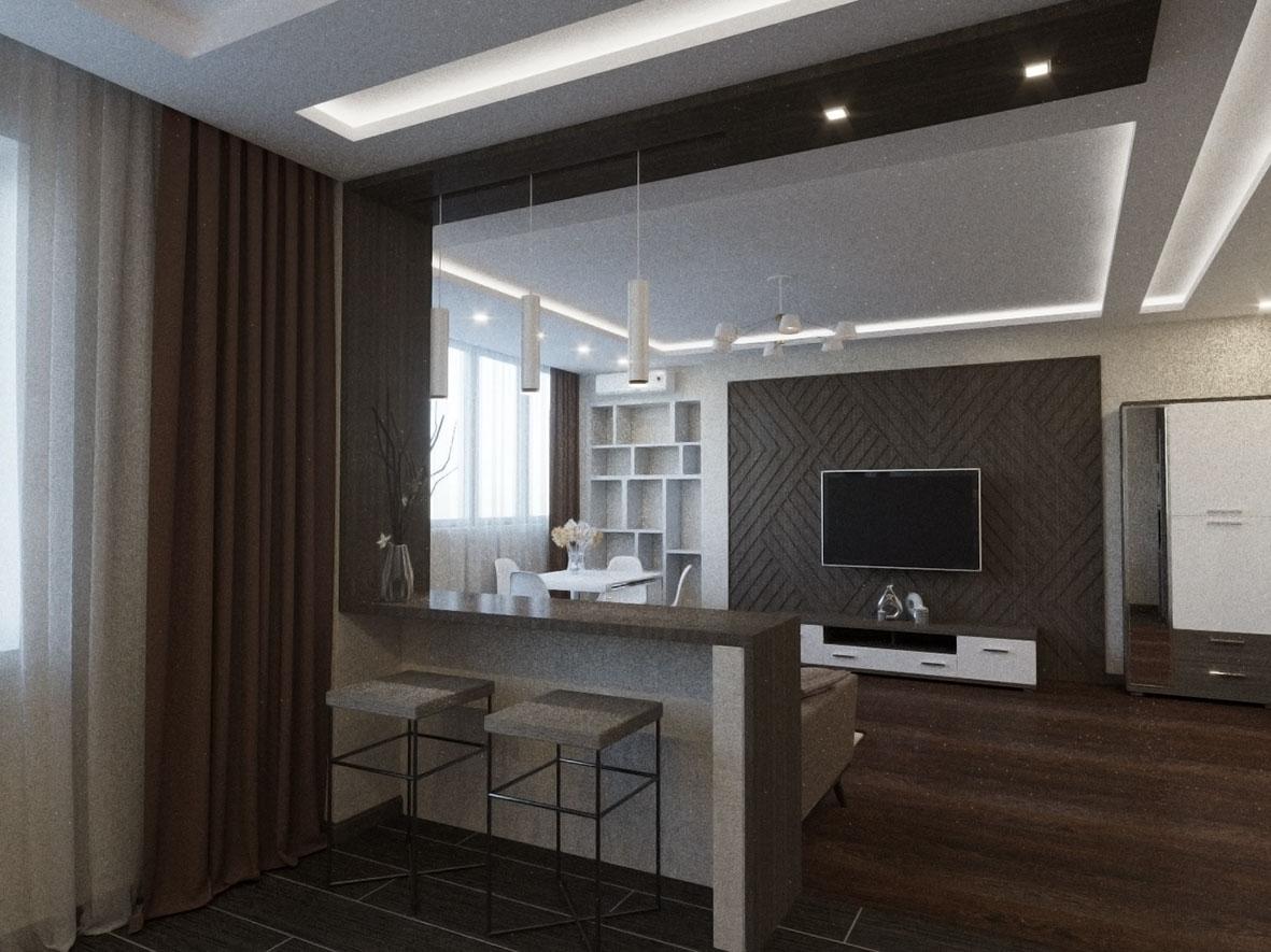 Интерьер современной квартиры в минимализме