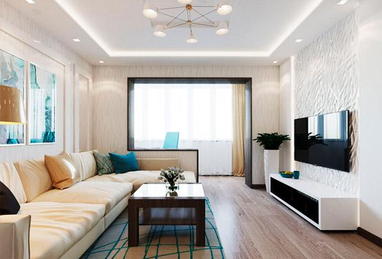 Интерьер квартиры 60 квадратов