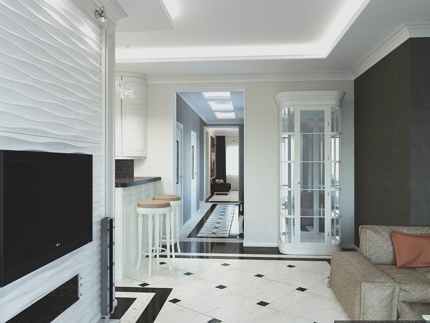дизайн дома в светлых тонах