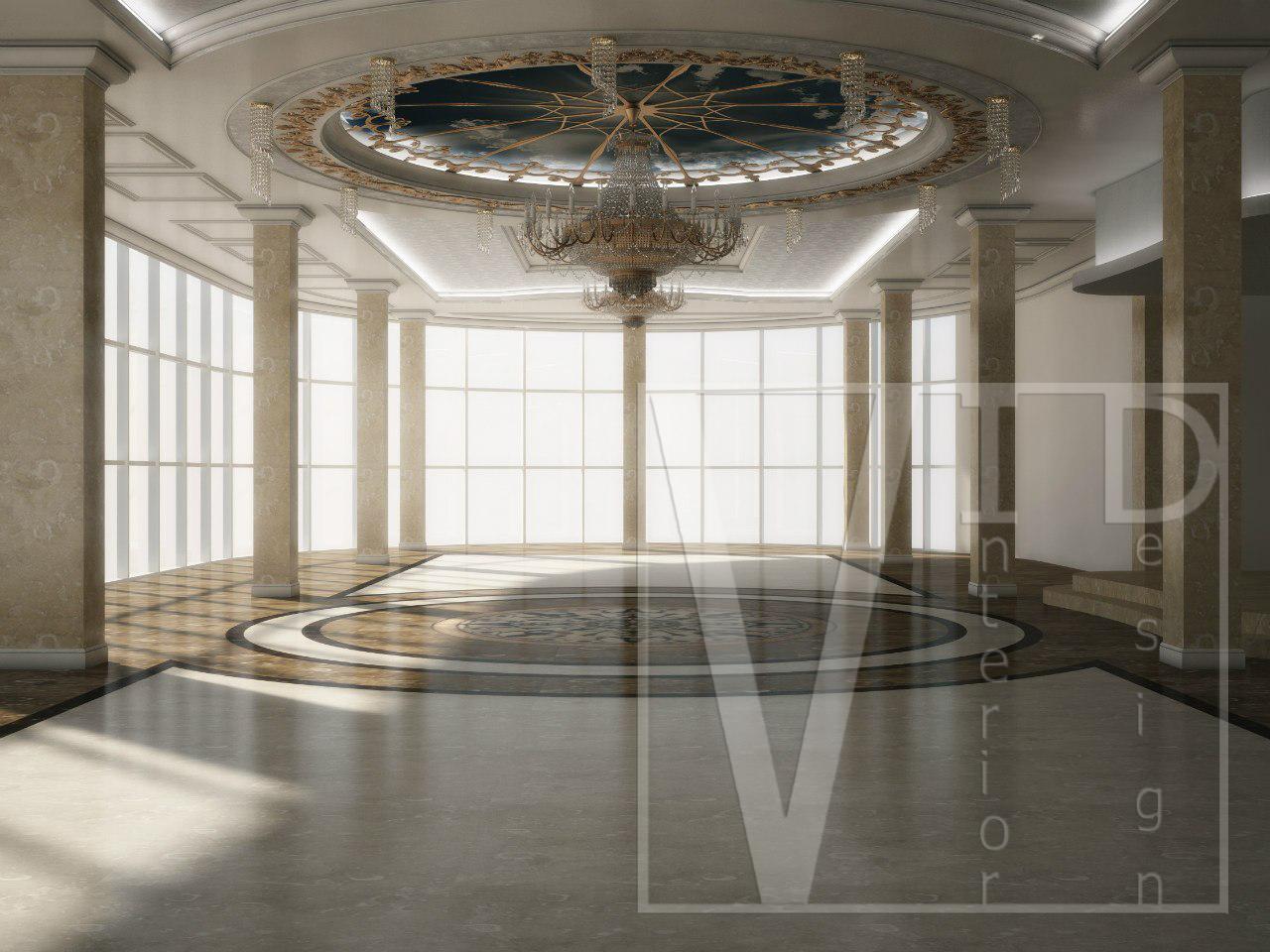 дизайн интерьера банкетного зала