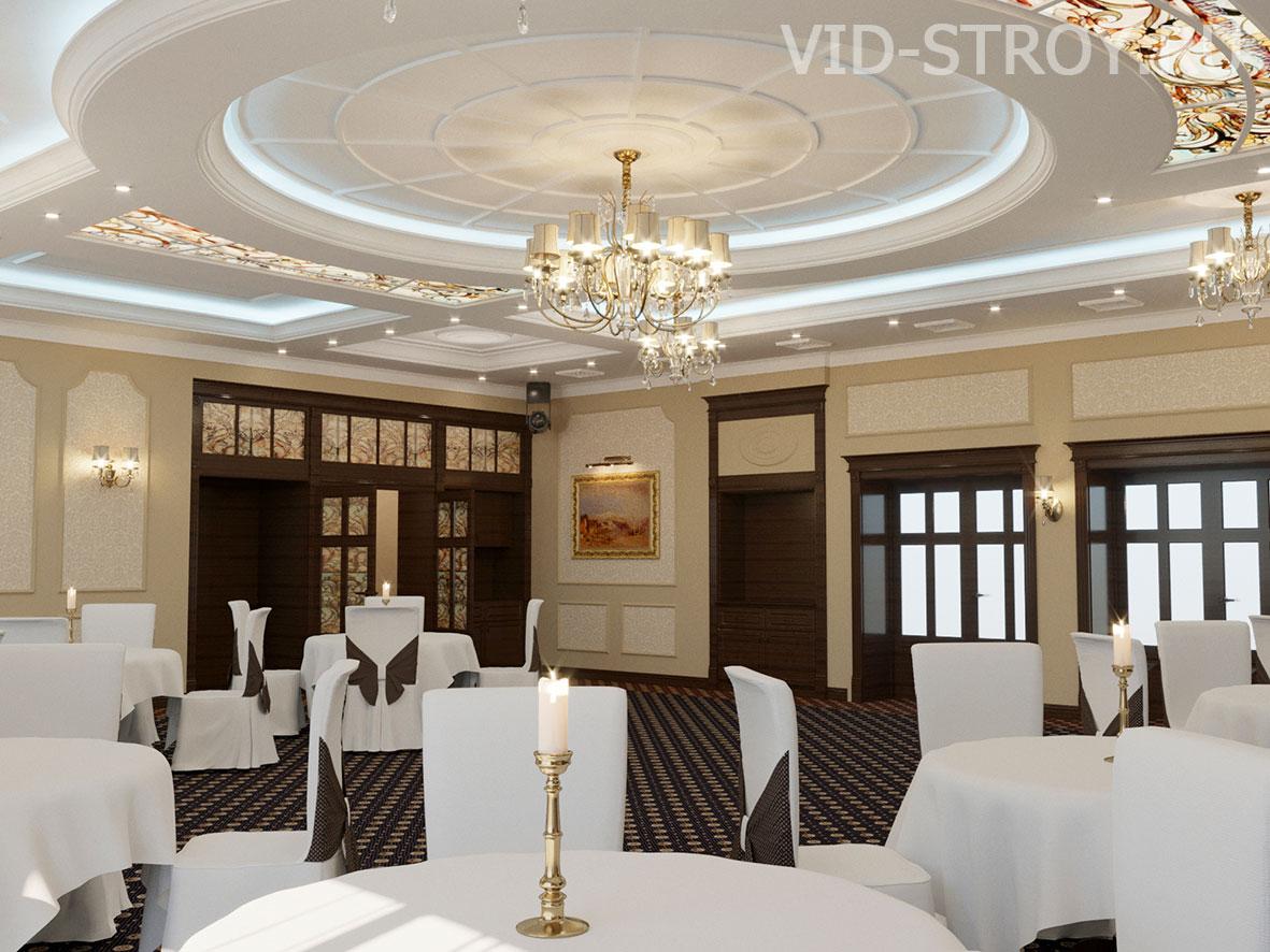 Дизайн ресторана с элементами классики