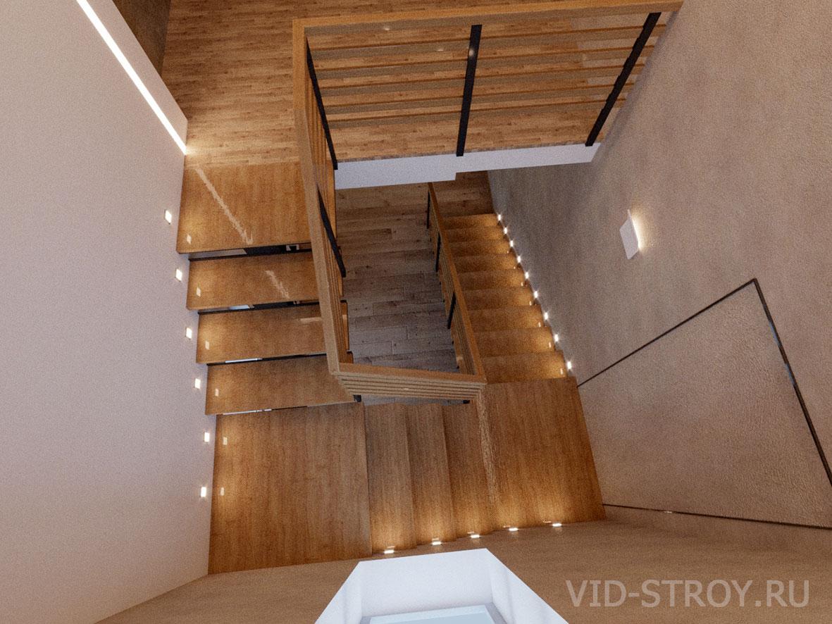 подцветка лестницы