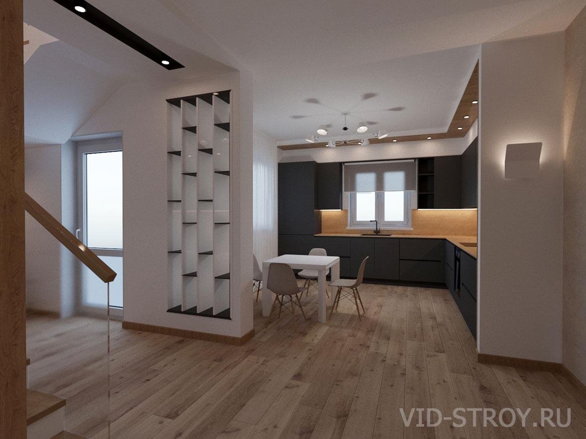 Дизайн интерьера кухни со входом