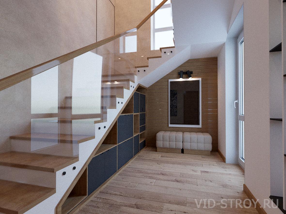 стеклянные перила у лестницы в доме