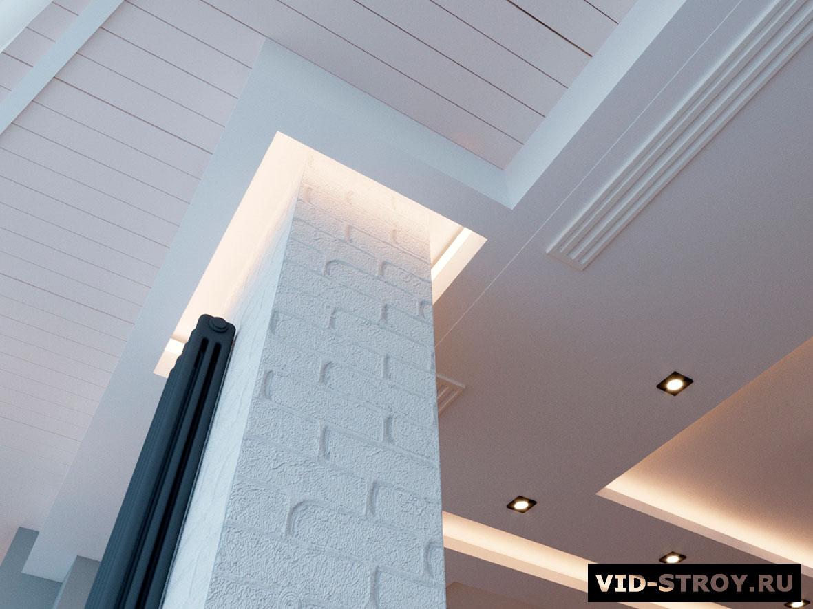 оформление потолка современной квартиры