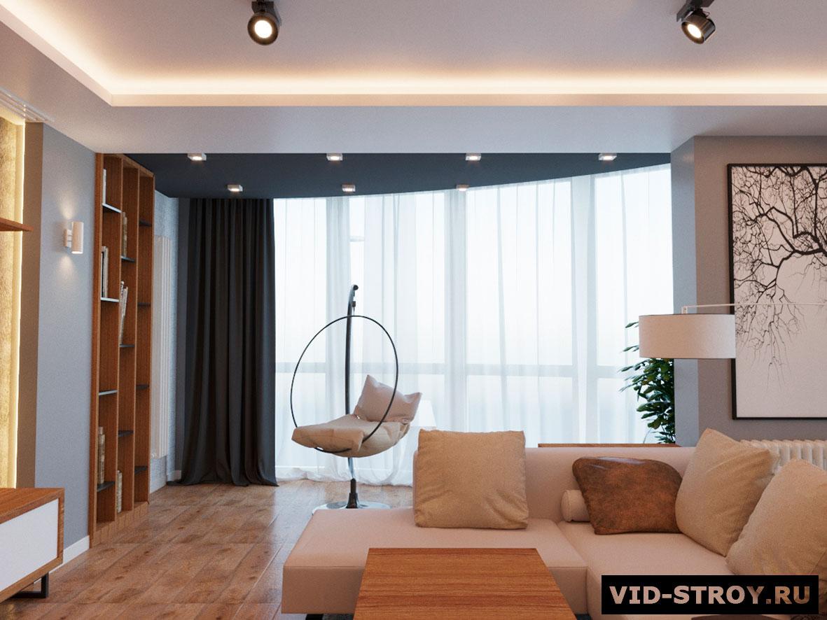 Дизайн трехкомнатной квартиры в минимализме