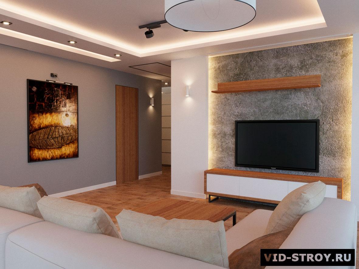 Дизайн интерьера с декоративной штукатуркой