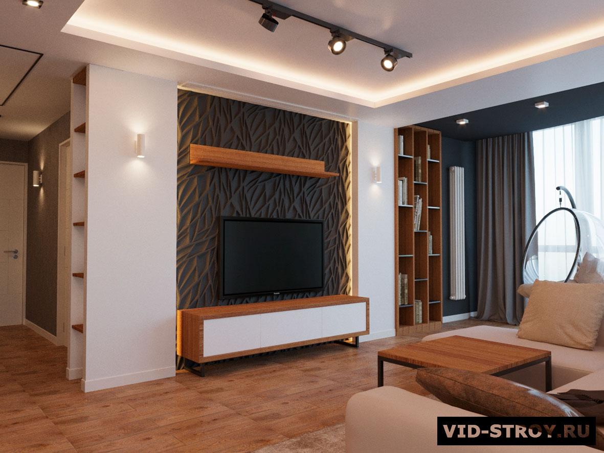 Дизайн интерьера современной трехкомнатной квартиры