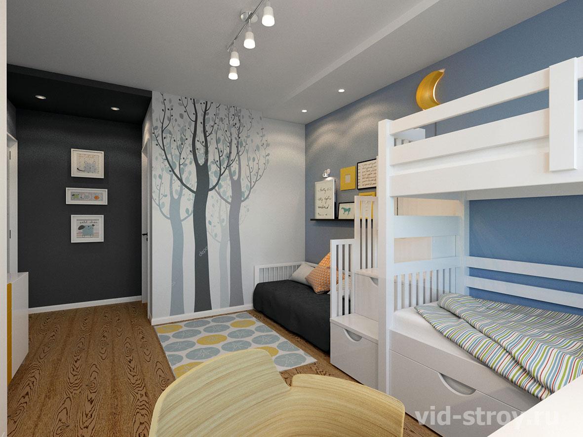 детская для двух детей в квартире