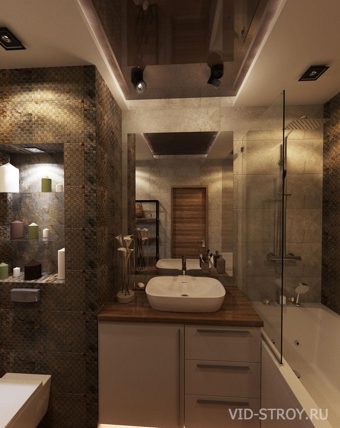 ванная в стиле лофт в квартире