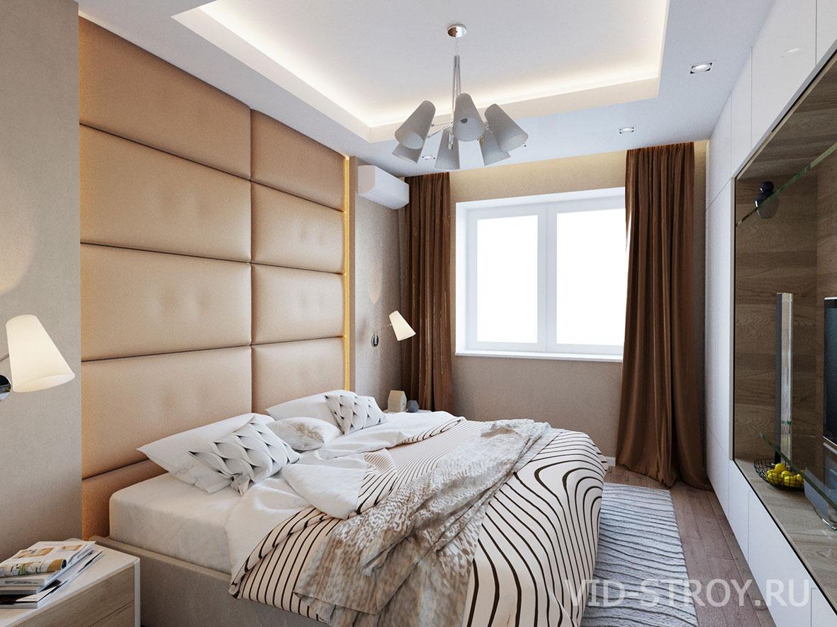 современная спальня в квартире 100 кв