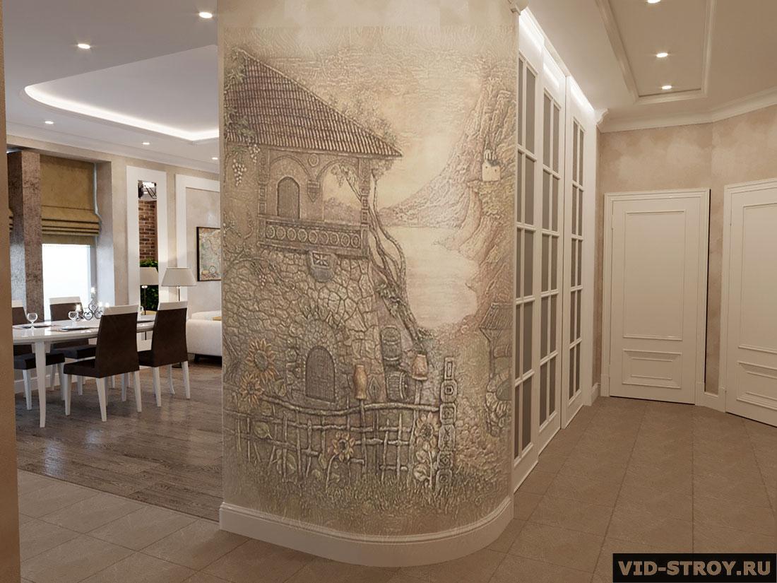 Дизайн холла загородного дома