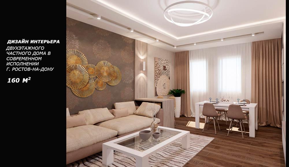 Дизайн интерьера дома 170 квадратных метра