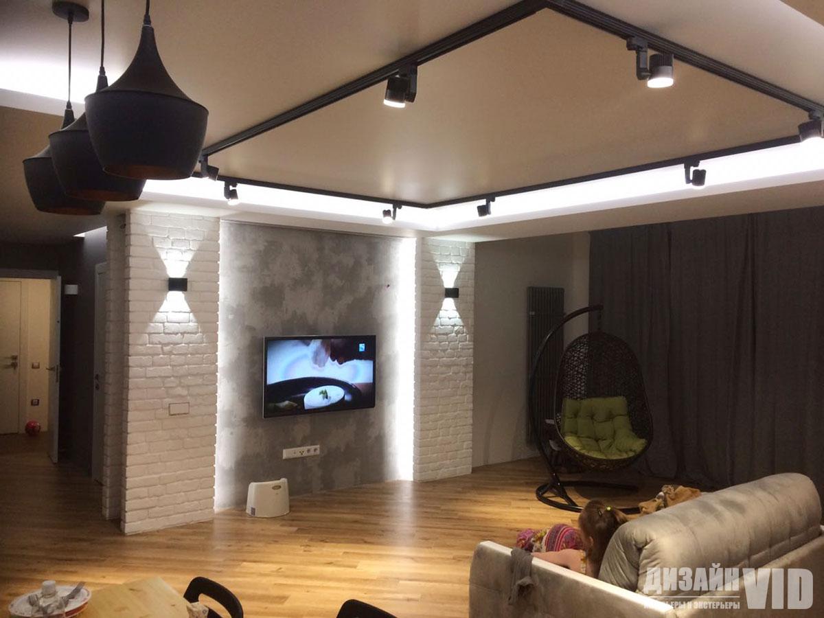 Реализованный дизайн проект гостиной